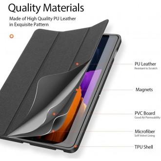 Juodas atverčiamas dėklas Samsung TAB S7+ Plus  12.4 T970 / T976  ''DUXDUCIS DOMO''