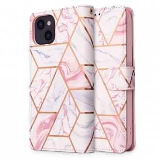 """Atverčiamas Tech-Protect """"Marbel"""" dėklas/piniginė telefonui iPhone 13 mini"""