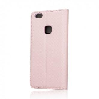 """Rožinės/Auksinės spalvos atverčiamas dėklas """"Smart Magnet"""" telefonui Samsung A52 / A52 5G"""