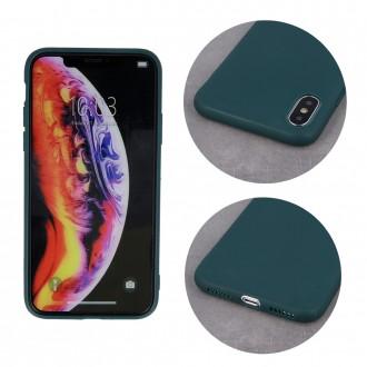 Tamsiai žalias silikoninis dėklas ''Rubber TPU'' telefonui iPhone 13