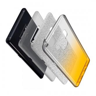 """Juodas blizgantis silikoninis dėklas iPhone 13 telefonui """"Shine"""""""