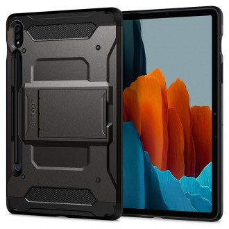"Pilkas dėklas Samsung TAB S7 11.0 T870 / T875 telefonui ""Spigen Tough Armor Pro"""