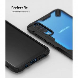 """Juodas dėklas Samsung Galaxy A70 telefonui """"Ringke Fusion"""""""
