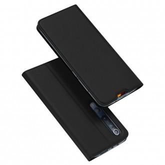 """Juodas atverčiamas dėklas Xiaomi Mi 10 / Mi 10 Pro telefonui """"Dux Ducis Skin"""""""
