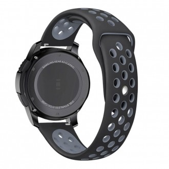 """Juoda-pilka apyrankė laikrodžiui Samsung Watch 46MM """"Tech-Protect Softband"""""""