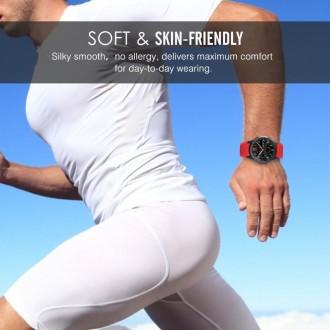 """Raudona apyrankė laikrodžiui Samsung Gear S3 """"Tech-Protect Smoothband"""""""