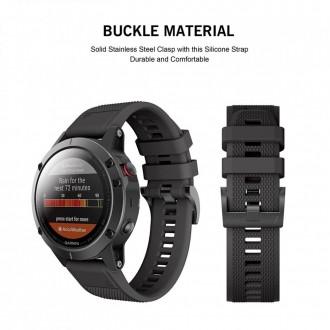 """Juoda apyrankė laikrodžiui Garmin Fenix 5/6/6 Pro """"Tech-Protect Smooth"""""""