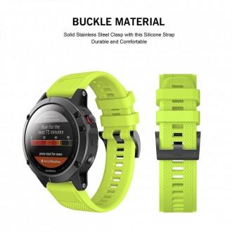 """Žalia apyrankė laikrodžiui Garmin Fenix 5/6/6 Pro """"Tech-Protect Smooth"""""""