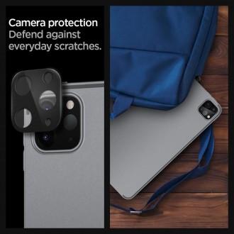 "Juodas apsauginis stiklas galiniai kamerai Apple iPad Pro 12.9"" 2020 telefonui ""Spigen Glass Fc"""