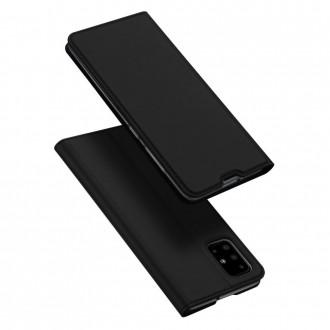 """Juodas atverčiamas dėklas Samsung Galaxy M31S telefonui """"Dux Ducis Skin"""""""