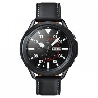 """Juodas dėklas laikrodžiui Samsung Galaxy Watch 3 (45MM) """"Spigen liquid air"""""""