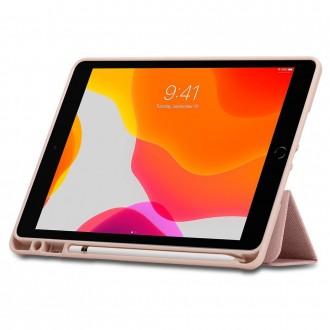 Rožinės-Auksinės spalvos dėklas iPad 7/8 10.2 2019/2020  ''SPIGEN URBAN FIT''