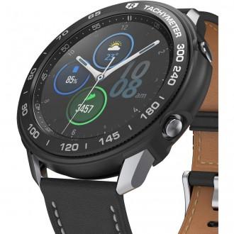 """Juodas dėklas laikrodžiui Samsung Watch 3 (45MM) """"RINGKE AIR & BEZEL STYLING"""""""