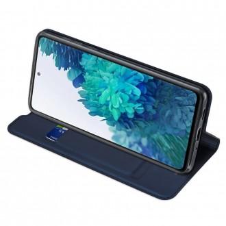 """Juodas atverčiamas dėklas Samsung Galaxy S20 FE telefonui """"Dux Ducis Skin"""""""