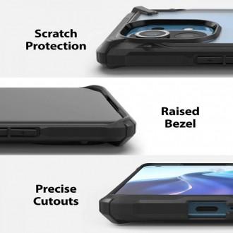 Juodas ypač patvarus Ringke ''Fusion X'' dėklas telefonui XIAOMI MI 11