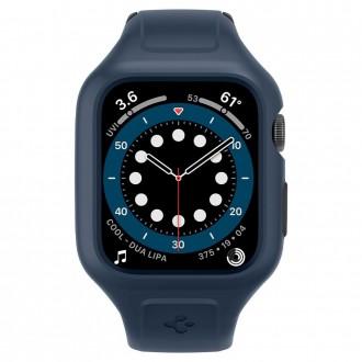Laikrodžio apyrankė/dėklas APPLE WATCH 4/5/6/SE Spigel Liquid Air Pro (44MM) Mėlyna