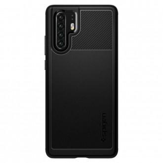 """Juodas dėklas Huawei P30 Pro telefonui """"Spigen Rugged Armor"""""""