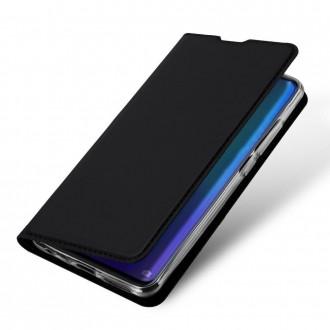 """Juodos spalvos atverčiamas dėklas Huawei P30 telefonui """"Dux Ducis Skin"""""""