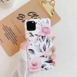 """Baltas dėklas """"Tech-Protect Marble"""" Apple Iphone 7 / 8 / SE 2020 telefonui"""
