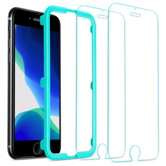 "Skaidrus apsauginis grūdintas stiklas Apple Iphone 7 / 8 / SE 2020 telefonui ""Esr Screen Shield 2vnt"""
