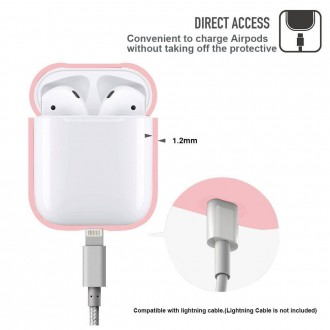 "Rožinis dėklas Apple Airpods  ""Tech-Protect"""