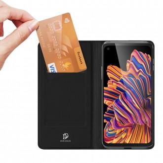 """Juodas atverčiamas dėklas Samsung Galaxy Xcover Pro telefonui """"Dux Ducis Skin"""""""