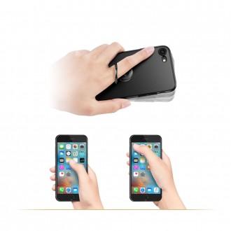 """Juodas universalus telefono laikiklis ant piršto - žiedas """"Esr Magnetic"""""""