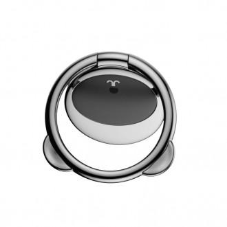 """Juodas universalus telefono laikiklis ant piršto - žiedas """"BASEUS MAGNETIC BEAR"""""""
