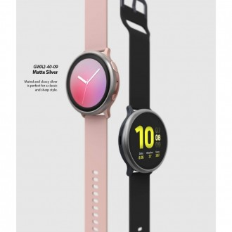 "Rausvas dėklas Samsung Galaxy Watch Active 2 (44MM) ""Ringke Bezel"""