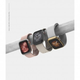 "Rausvas dėklas Apple Watch 4/5 (44MM) ""Ringke Bezel"""