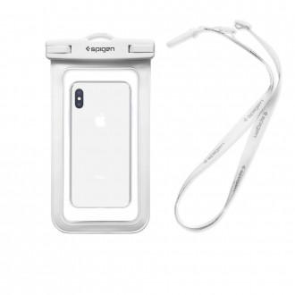 """Baltas univesalus vandeniui atsparus dėklas telefonui """"Spigen A600"""""""