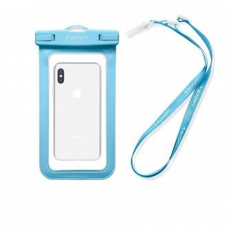 """Mėlynas univesalus vandeniui atsparus dėklas telefonui """"Spigen A600"""""""
