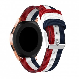 "Mėlyna-raudona apyrankė laikrodžiui Samsung Galaxy Watch 46MM ""Tech-Protect Welling"""