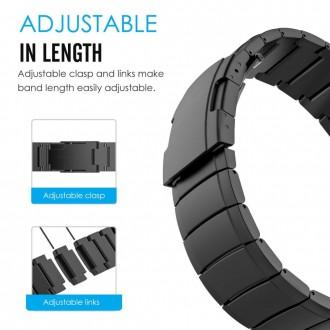 """Juoda apyrankė laikrodžiui Garmin Fenix 5/6/6 Pro """"Tech-Protect Steelband"""""""