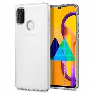 "Skaidrus dėklas Samsung Galaxy M21 telefonui ""Spigen Liquid Crystal"""