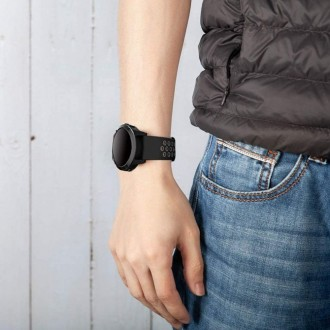 """Juoda-pilka apyrankė laikrodžiui Samsung Galaxy Watch 3 (41MM) """"Tech-Protect Softband"""""""
