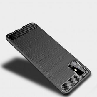 """Juodas dėklas Samsung Galaxy A32 5G telefonui """"TECH-PROTECT TPUCARBON """""""