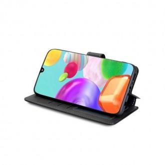 """Juodas atverčiamas dėklas Samsung Galaxy M31S telefonui """"TECH-PROTECT WALLET"""""""