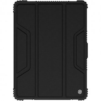 """Juodas dėklas iPad 7 / 8 10.2 2019/2020 telefonui """"Nillkin Armor Leather"""""""