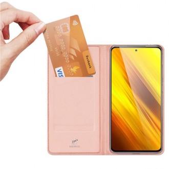 """Juodas atverčiamas DUXDUCIS dėklas """"SkinPro"""" telefonui XIAOMI POCO X3 NFC"""