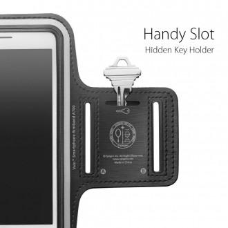 """Juodas universalus sportinis dėklas rankai """"Spigen A700 Sport"""" telefonui iki 6.9'"""
