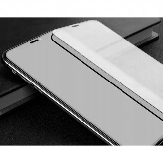 Apsauginis grūdintas stiklas juodais kraštais MOCOLO TG+FULL GLUE  telefonui XIAOMI REDMI NOTE 10/10S BLACK