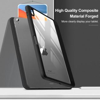 """Juodas, išskirtinio dizaino atverčiamas dėklas """"INFILAND CRYSTAL CASE"""" iPad Air 4 2020"""
