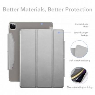 """""""ESR ASCEND Trifold"""" dėklas + grūdinto stiklo ekrano apsauga, skirta """"iPad Pro 11 2021"""" Pilkas"""