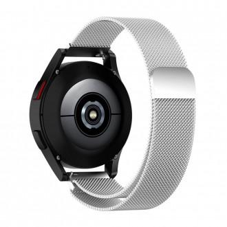"""Sidabrinė apyrankė laikrodžiui Galaxy Watch 4 (40/42/44/46 mm) """"Tech-Protect Milaneseband"""""""