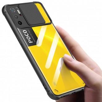 """Skaidrus dėklas su kameros apsauga """"TECH-PROTECT CAMSHIELD"""" telefonui XIAOMI POCO M3 PRO / REDMI NOTE 10 5G"""