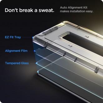 """Apsauginis stiklas """"SPIGEN GLAS.TR """"EZ FIT""""'' (2-vnt) su montavymo rėmeliu telefonui Samsung A21+ Plus"""