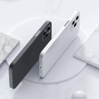 Itin plonas (0.4 mm), dalinai permatomas, dūmų pilkumos dėklas TECH-PROTECT ULTRASLIM telefonui iPhone 13 Pro