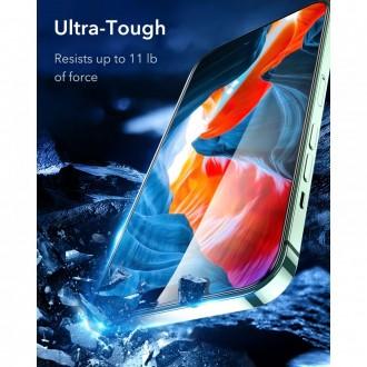 """Skaidrus apsauginis grūdintas stiklas Apple Iphone 13 / 13 Pro telefonui """"Esr Screen Shield 2vnt"""""""