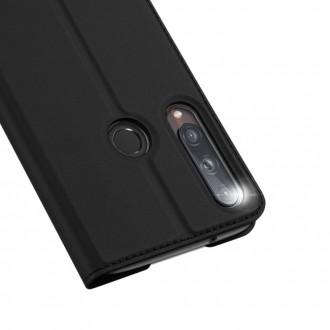 """Juodas atverčiamas dėklas Huawei P40 Lite E telefonui """"Dux Ducis Skin Pro"""""""